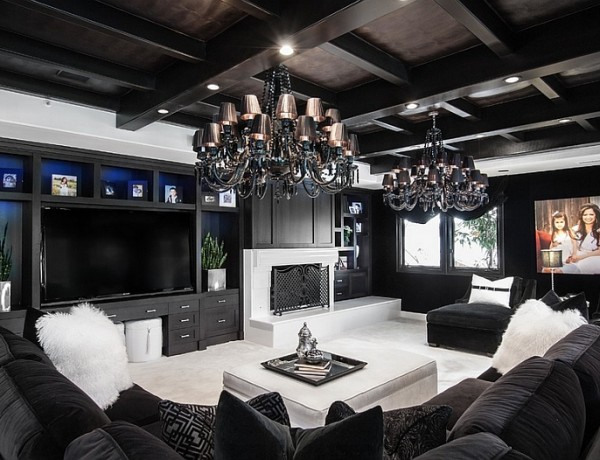 black and white modern living rooms Best of: Black and White Modern Living Rooms Best of Black and White Modern Living Rooms 8 600x460
