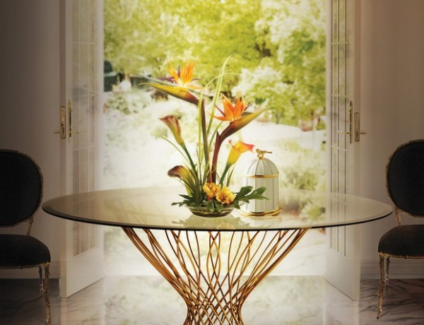 best dining room tables best dining room tables for your home – 10 inspirational images Room Decor Ideas Room Ideas 2016 Trends for Home Interiors Precious Materials Gold Luxury Furniture Luxury Interior Design Allure Dining Table Vivre Chandelier KOKET 600x460