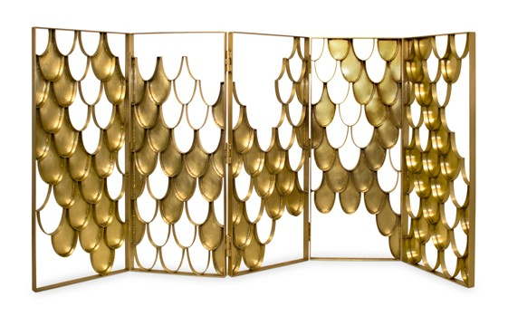 modern screens and room dividers modern screens and room dividers Modern screens and room dividers: Amazing selection for living room koi folding screen contemporary design by brabbu 5 e1459185518944