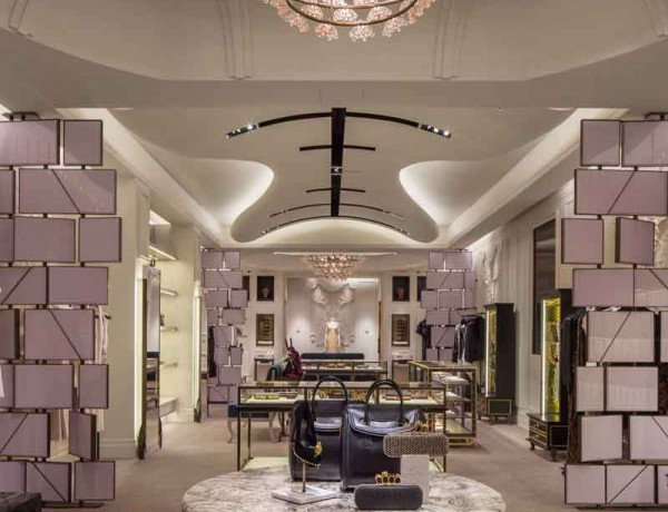 david collins interiors Fabulous Lighting Ideas by David Collins Interiors Alexander McQueen Bal Harbour 3 600x460