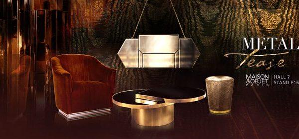 maison et objet 2017 Maison et Objet 2017: Chic Metallics by KOKET Koket Luxury Brand Maison et Objet Paris 2017 600x279
