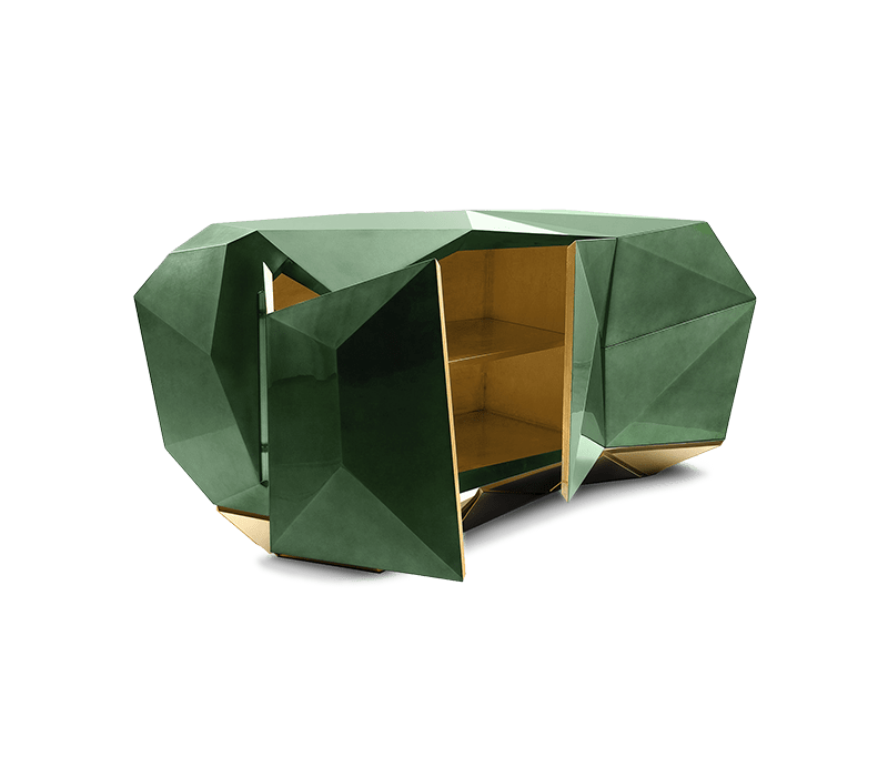 diamond shaped products, diamonds, living room diamond shaped products Diamond Shaped Products For Your Living Room diamond emerald sideboard 01 boca do lobo