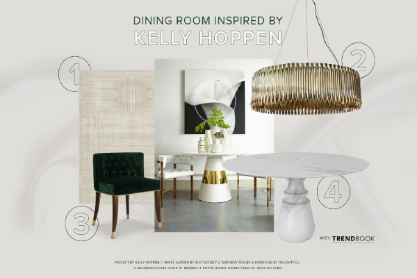 clean Clean and Neutral Dining Room Inspired by Kelly Hoppen kelly hoppen 2